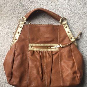 Melie Bianco saddle color  tote handbag.